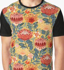 Protea Chintz - Mustard Graphic T-Shirt