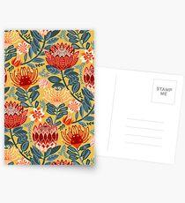 Protea Chintz - Mustard Postcards