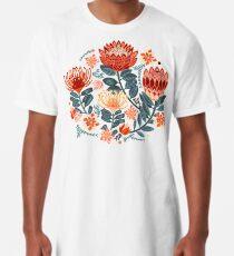 Protea Chintz - Mustard Long T-Shirt