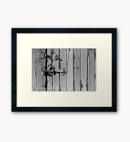 White Gate Framed Print