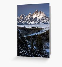 Snake River Overlook, Winter Greeting Card