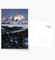 Snake River Overlook, Winter Postcards
