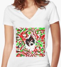 Gato Fitted V-Neck T-Shirt