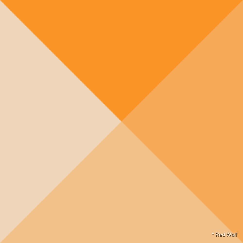 Geometric Pattern: Pyramid: Orange Light by * Red Wolf