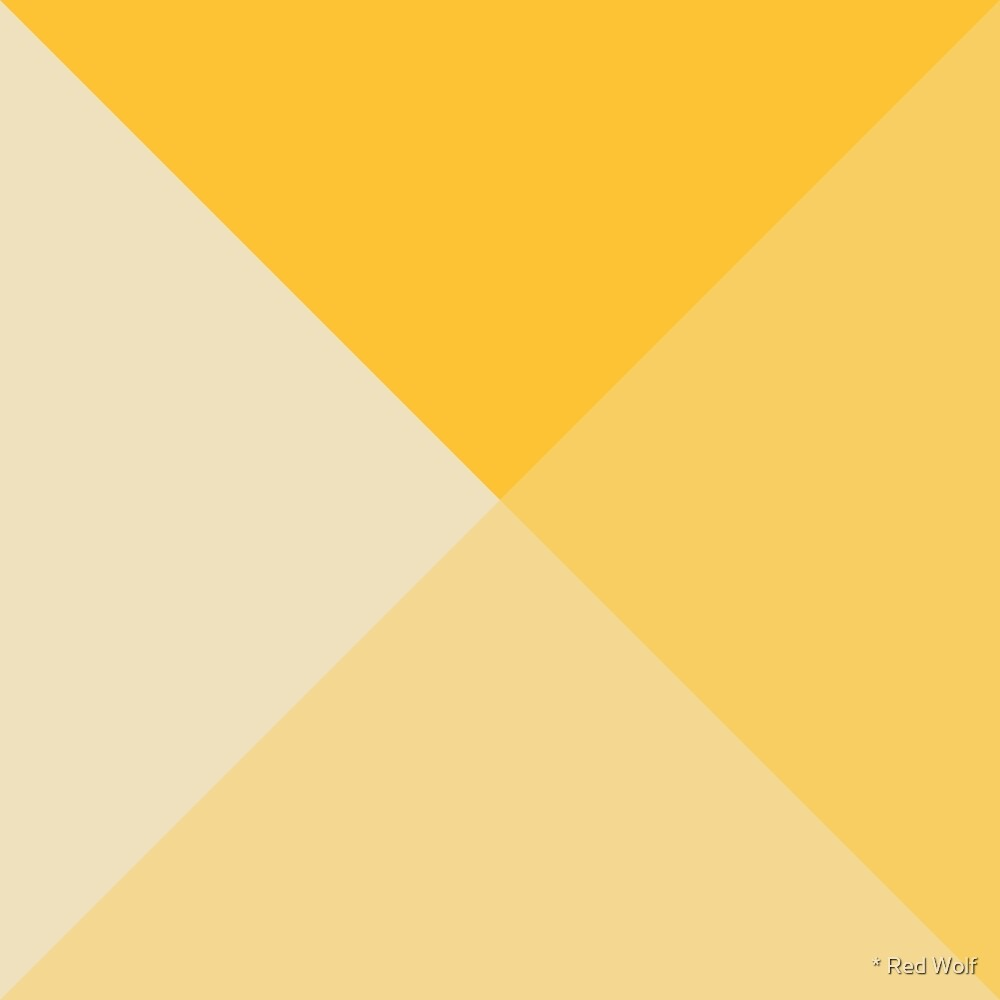 Geometric Pattern: Pyramid: Yellow Light by * Red Wolf