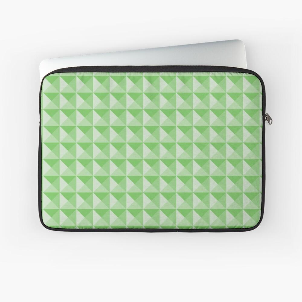 Geometric Pattern: Pyramid: Green Light Laptop Sleeve