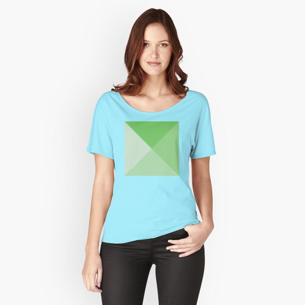 Geometric Pattern: Pyramid: Green Light Relaxed Fit T-Shirt