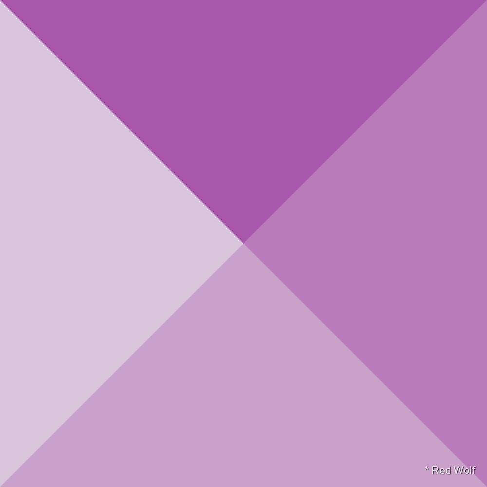 Geometric Pattern: Pyramid: Purple Light by * Red Wolf