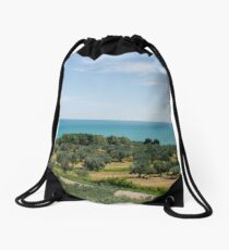 An Italian panorama  Drawstring Bag