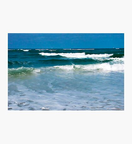 Waves on a Beach Photographic Print