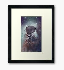 Holy Otter in space Gerahmtes Wandbild