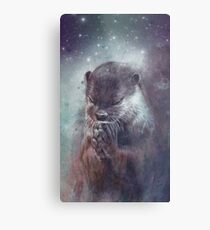 Holy Otter in space Metallbild