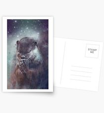Holy Otter in space Postkarten