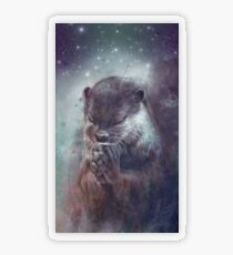 Holy Otter in space Transparenter Sticker