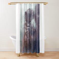 Meditierender Otter (farbig) Duschvorhang