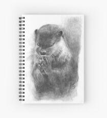 Meditierender Otter (schwarz-weiß) Spiralblock