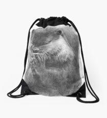 Meditierender Otter (schwarz-weiß) Turnbeutel