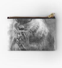 Meditierender Otter (schwarz-weiß) Täschchen