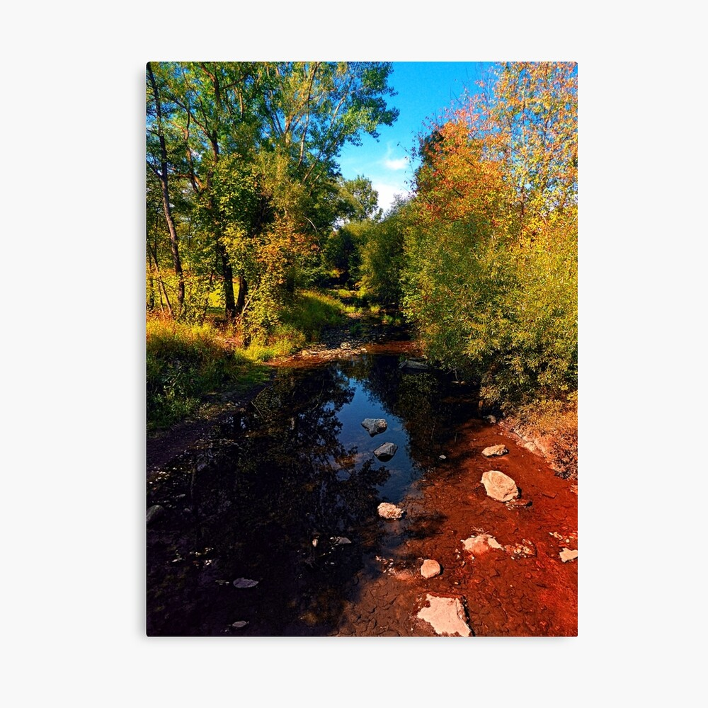 River scene at the end of summer Canvas Print