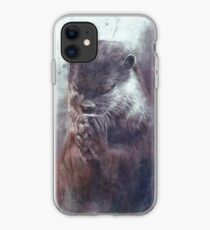 Meditierender Otter (farbig) iPhone-Hülle & Cover
