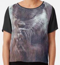 Meditierender Otter (farbig) Chiffontop