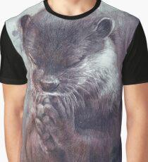 Meditierender Otter (farbig) Grafik T-Shirt