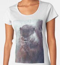 Meditierender Otter (farbig) Premium Rundhals-Shirt