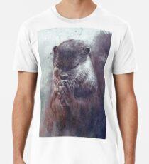 Meditierender Otter (farbig) Premium T-Shirt