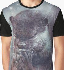 Holy Otter in space Grafik T-Shirt