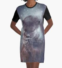 Holy Otter in space T-Shirt Kleid