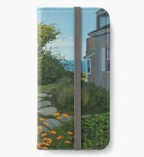 """""""The Cottage"""" oil painting by Reed A Prescott III iPhone Wallet/Case/Skin"""