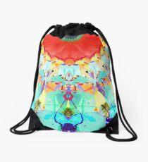 Abstract Textural Colors Drawstring Bag