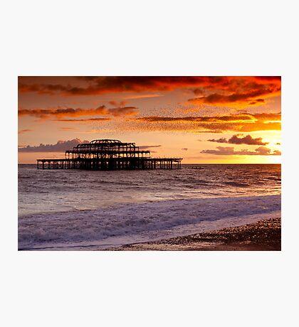 West Pier SunSet Photographic Print