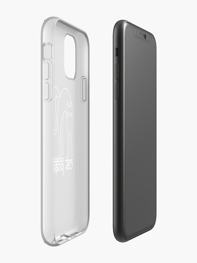 Alternate view of Cat Pose 1 - Cat Yoga (white text) iPhone Case & Cover