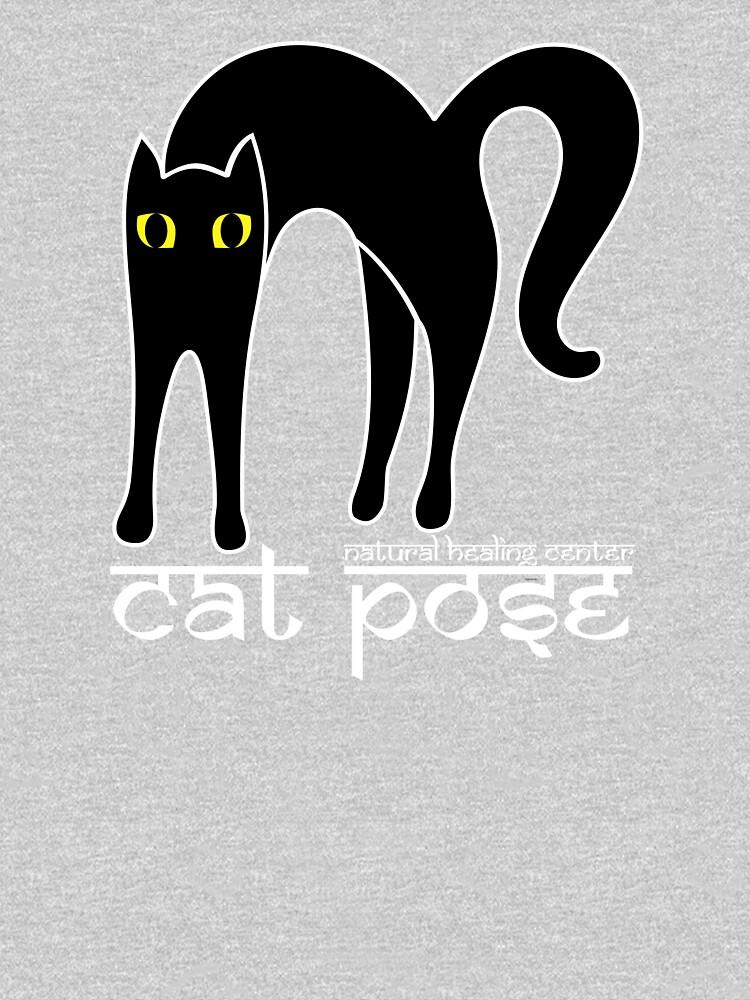 Cat Pose 1 - Cat Yoga (white text) by NaturalHealing