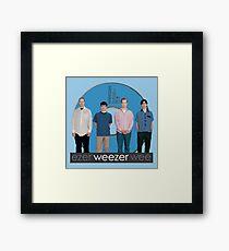 WEEZER - THE BLUE ALBUM. Framed Print