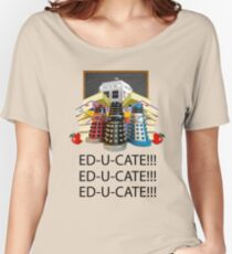 Educate not Exterminate  Women's Relaxed Fit T-Shirt