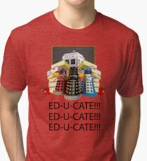 Educate not Exterminate  Tri-blend T-Shirt