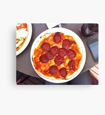 Pizza Calabrese Canvas Print