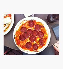 Pizza Calabrese Photographic Print