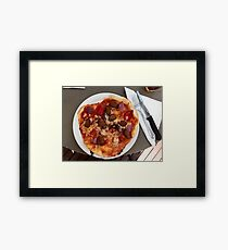 Pizza Salsiccia Festa Framed Print