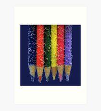 pencil fizz! Art Print