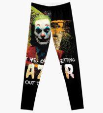 Joaquin Phoenix Joker Movie Quote Fan Art Tribute | Nihilist Millennial Leggings