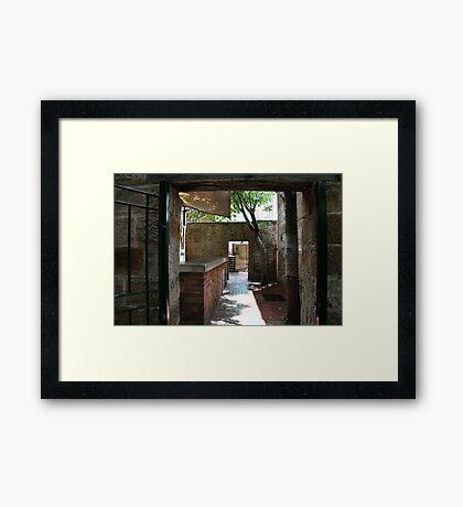 Mystery walkway Framed Print