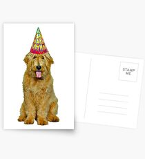 Goldendoodle Birthday Postcards