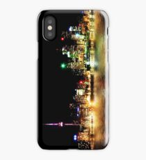 Toronto Skyline At Night From Polson St Reflection iPhone Case/Skin