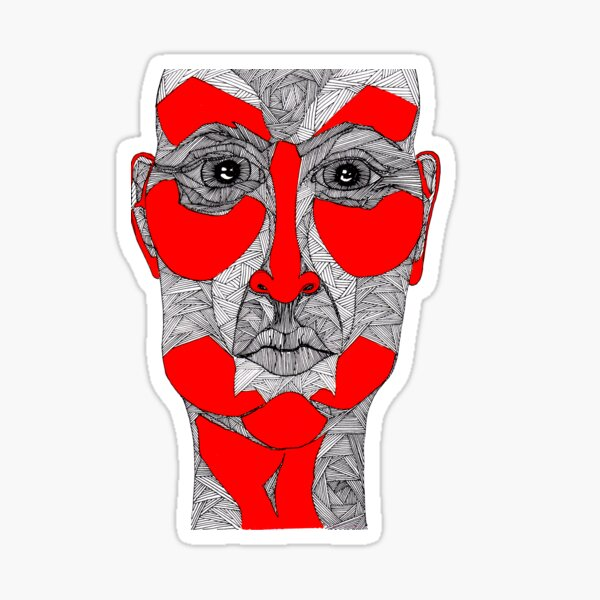 Gesicht, Mann, Maske - Glaube und Wahrheit Sticker