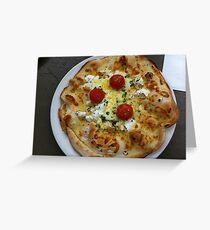 Pizza Bianca Al Pomodoro Greeting Card