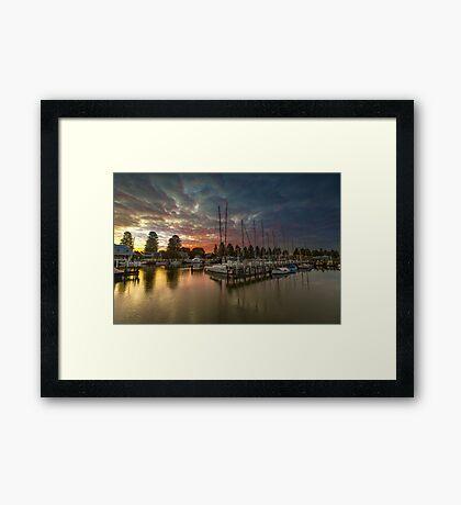 Port Fairy Marina Dusk Framed Print