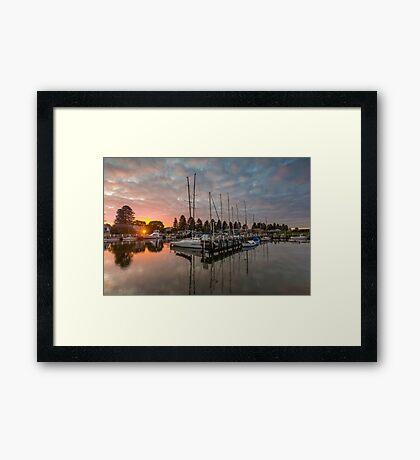 Port Fairy Marina Sunset Framed Print
